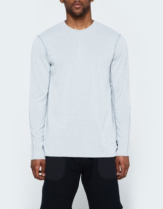 LS Crewneck Tee - Powerdry Jersey in Grey $90 thestylecure.com