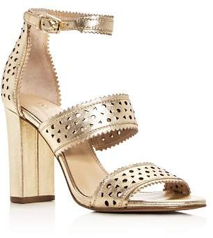 Botkier Women's Gemi Perforated Leather Block Heel Sandals