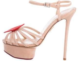 Charlotte Olympia Embellished Platform Sandals