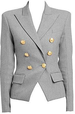 Balmain Women's Veste 6 Double-Breasted Blazer