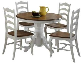 Home Styles The French Countryside Oak and Rubbed White 5-Piece Dining Set