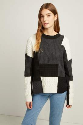French Connenction Amie Patch Knits Cable Jumper