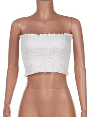 1fb1bf0eac at Amazon Canada · Habitaen Women Strapless Tank Tops Elastic Bra Breast  Wrap Camisole Tank Top