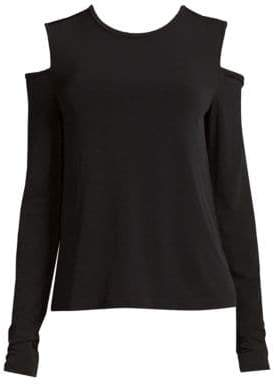 Donna Karan Cold-Shoulder Top