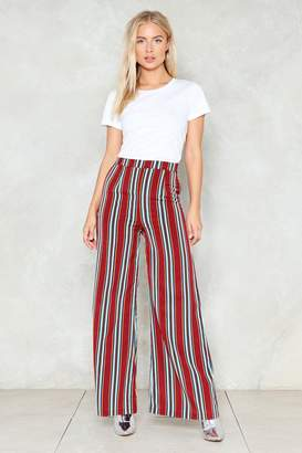 Nasty Gal Stripe By Your Side Wide-Leg Pants
