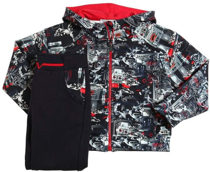 Sweatshirt Und Trainingshose Aus Jersey-Neopren