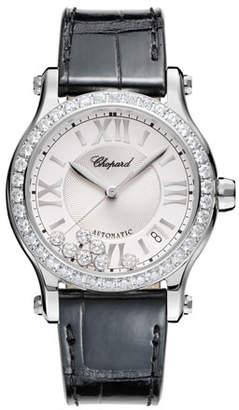 Chopard 36 mm Happy Sport Watch with Diamonds