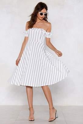 Nasty Gal Line Your Pockets Off-the-Shoulder Dress
