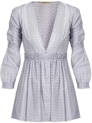 Emilia Wickstead Jasmin ditsy-print cotton-voile top