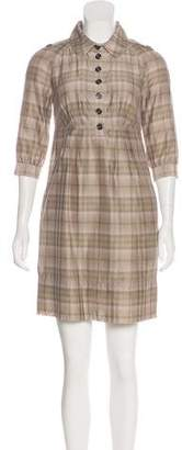Burberry Check Knee-Length Dress
