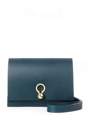 Danielle Foster CHARLIE Box in Petrol Blue Leather