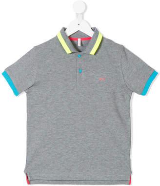 Sun 68 embroidered logo polo shirt