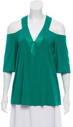 Ramy Brook Silk Cold-Shoulder Blouse