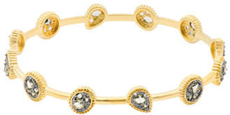 Freida Rothman Oval CZ Stones Bangle Bracelet