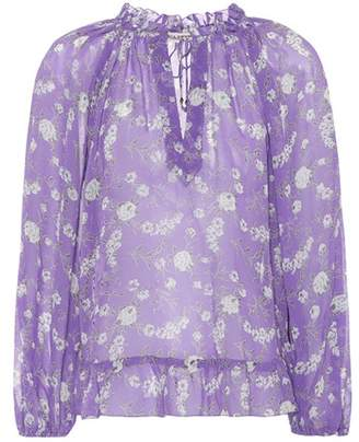 Ulla Johnson Rosine floral-printed silk blouse