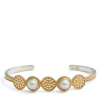 Anna Beck Pearl Multidisc Cuff Bracelet