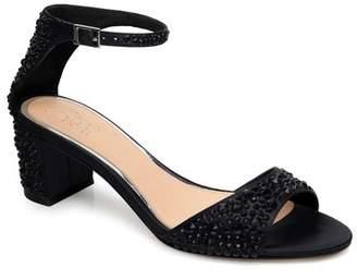 Badgley Mischka Crystal Block Heel Sandal (Women)