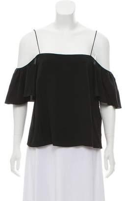 Fendi Silk Off Shoulder Top