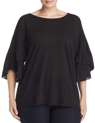 Elan International Plus Ruffle-Sleeve Tee