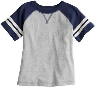 Baby Boy Jumping Beans Short Sleeve Striped Raglan Tee