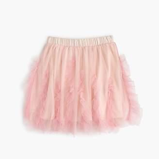 J.Crew Girls' ruffled tulle skirt