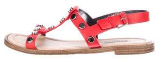 Balenciaga Studded Slingback Sandals