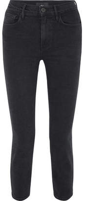 3x1 W4 Colette Cropped High-rise Slim-leg Jeans - Black