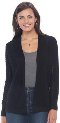 Apt. 9 Women's Chevron Open-Front Cardigan Sweater