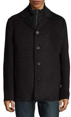 Hart Schaffner Marx 3-in-1 Triple Play Wool-Blend Coat with Vest