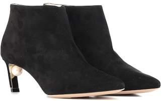 Nicholas Kirkwood Mira Pearl suede ankle boots