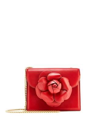 Oscar de la Renta Crimson Leather Mini TRO Bag