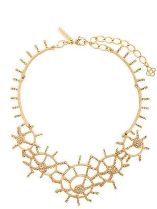 Oscar de la Renta shell pavé necklace