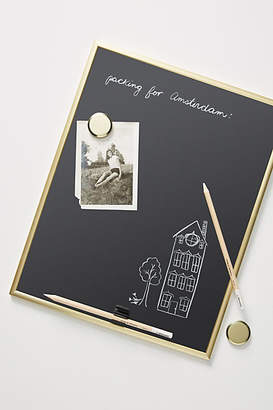 Anthropologie Framed Magnetic Chalkboard