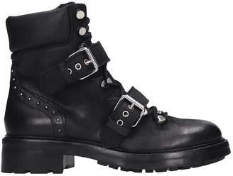 Strategia Combat Boots In Black Nubuck