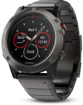 Garmin fenix(R) 5X Sapphire Premium Multisport GPS Watch, 51mm