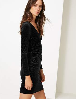 Marks and Spencer Sparkly Jersey Long Sleeve Bodycon Dress