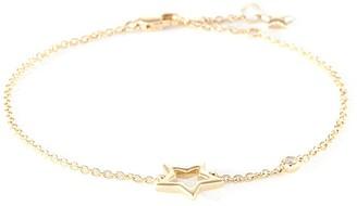 LC Collection Jewellery Diamond 18k yellow gold cutout star bracelet