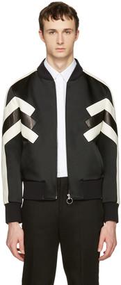 Neil Barrett Black Panelled Modernist Bomber Jacket $1,865 thestylecure.com