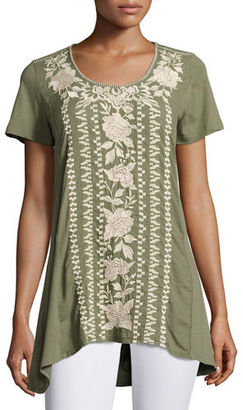 JWLA For Johnny Was Letty Embroidered-Panel Tunic, Plus Size $170 thestylecure.com