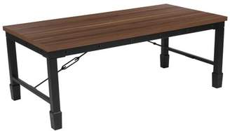 Flash Furniture Brentwood Collection Coffee Table with Industrial Style Steel Legs
