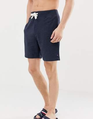 Tommy Hilfiger flag logo sweat shorts regular fit in navy marl