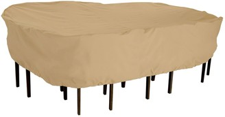 Classic Accessories Terrazzo Rectangular Patio Table & Chair Cover Set - Outdoor