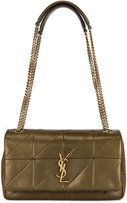 Saint Laurent Small Jamie Chain Patchwork Bag in Light Tea | FWRD