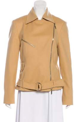 St. Emile Virgin Wool-Blend Biker Jacket