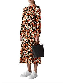 Whistles Dandelion Print Shirt Dress