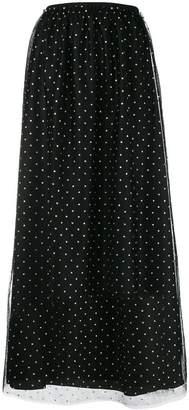 RED Valentino polka-dot maxi skirt