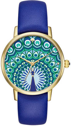 kate spade new york Women's Metro Cobalt Blue Leather Strap Watch 34mm KSW1285 $195 thestylecure.com