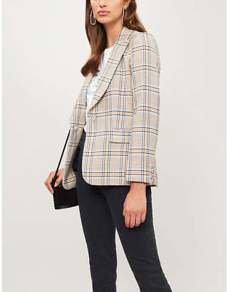 Claudie Pierlot Valerie checked woven jacket