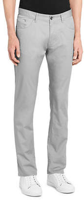 Calvin Klein Five-Pocket Micro-Herringbone Pants
