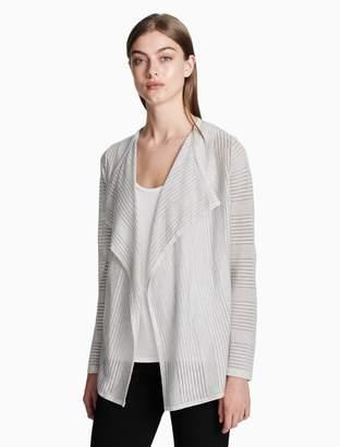 Calvin Klein sheer stripe flyaway sweater